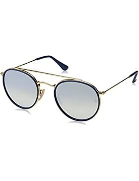 Ray-Ban Rb 3647N, Occhiali da Sole Unisex-Adulto, Oro (Gold/Blue), 51 mm