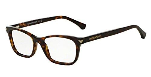 Emporio Armani Montures de lunettes 3073 Pour Femme Black, 52mm 5026: Tortoise