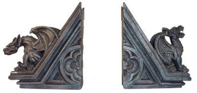 Gothic Gargoyle Skulpturale Buchstützen - Gothic Gargoyle