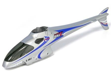 EK1-0576 - E-Sky Rumpf Lama V4 002516 !!! silber KOMPLETTSET !!!