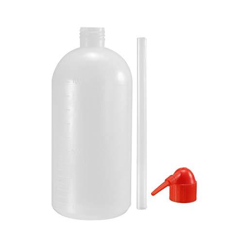 Lagerung Von Flüssigkeiten (sourcing map Plastik Waschflasche Quetschflasche schmaler Mund Labor Spitze Flüssigkeit Lagerung 1000ml)