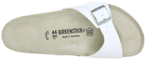 Birkenstock Madrid, Mules Blanc (Vernis Blanc)