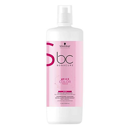 Schwarzkopf Professional BONACURE ph 4.5 Color Freeze Micellar Rich Shampoo, 1 l