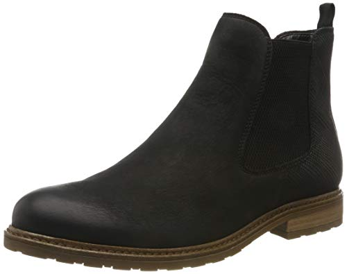 Tamaris Damen 1-1-25056-23 Chelsea Boots, Schwarz (Black/STR. 21), 39 EU