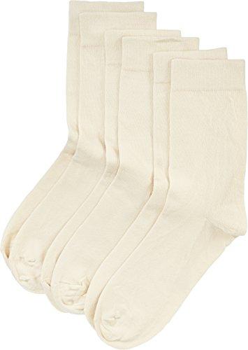 Nur Die Damen Socken 487805/Damen Ohne Gummi Socken 3er, Gr. 35-38, Beige (strand 530)