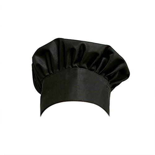 Demarkt 1 Stück Kochmütze, Poly Baumwolle Verstellbare elastische Küche Kochen Kochmütze, Erwachsener Chefhut für Restaurant Kochen BBQ - Pilz-Stil Size 30x23x27cm (Stil 5) Poly Turban
