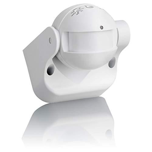 SEBSON® Bewegungsmelder Aussen IP54, Aufputz, HF Sensor, Wand Montage, programmierbar, Reichweite 15m / 180°, LED geeignet, schwenkbar, 87x93x60mm