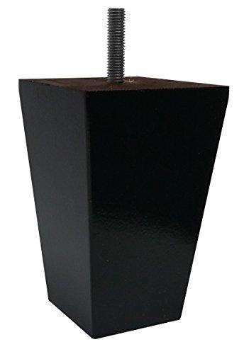 Pyramidenförmiger Sofa/Couch/Sessel, 10 cm, Espresso spitz zulaufende Holzbeine, 4 Stück - Espresso Sessel