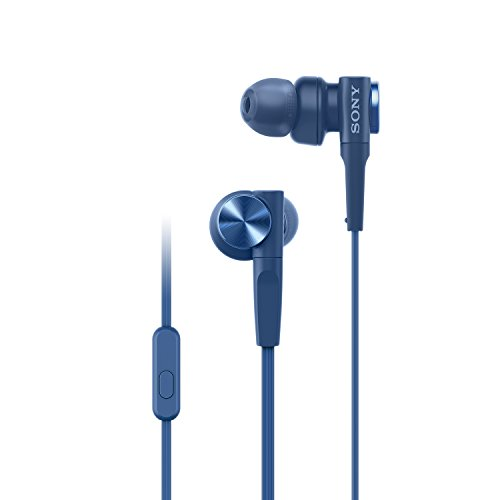 Sony Premium MDR-XB55AP In-Ear Extra Bass Headphones with Mic (Blue)