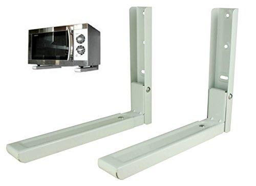 Mikrowelle Mikrowellen Halter Küchen Halterung Mikrowellenhalterung Wandhalter inkl. Montagematerial, Belastbarkeit: 40 kg