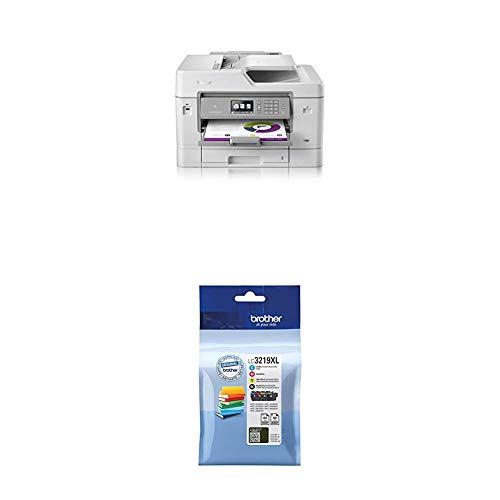 Brother MFC-J6935DW 4-in-1 Farbtintenstrahl-Multifunktionsgerät (Drucker, Scanner, Kopierer, Fax) + LC-3219XL Original Tintenpatronen im Value Pack, schwarz, cyan, magenta, gelb