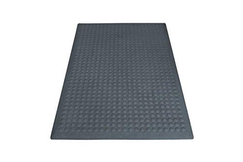 miltex 17022 Bodenmatte Yoga Flex, Einzelmatte, 60 x 90 cm, grau