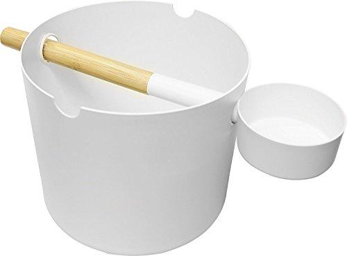 Preisvergleich Produktbild SudoreWell® Saunaeimer / Saunakübel Set Kolo weiss + gratis 25g Mentholkristalle