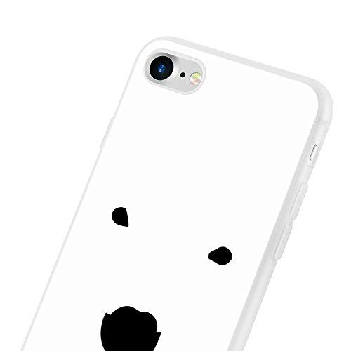 iPhone 8, iPhone 7 Hülle | JAMMYLIZARD Transparente Schutzhülle Sketch Back Cover Case aus Silikon, Mario Brüder EISBÄR