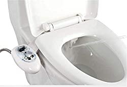 IBAMA Toilet Seat Bidet with Dual Nozzle, Self Cleaning Nozzle, Fresh Water Non-Electric Mechanical Bidet Toilet Attachment