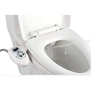 IBAMA Bidés, Toilet Seat Bidet Bidé de asiento de inodoro con boquilla doble, boquilla autolimpiante, accesorio WC bidet…