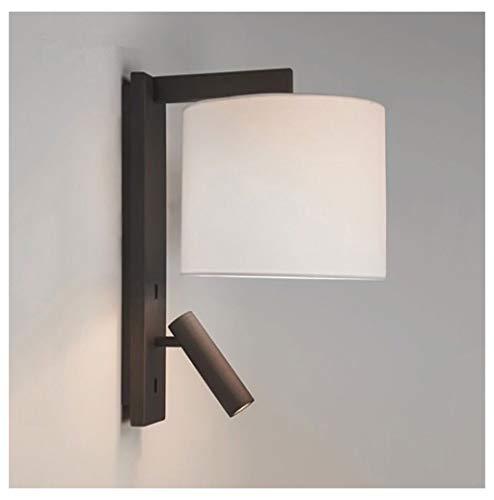 WPQW Moderne LED-Wandleuchte aus Edelstahl für Schlafzimmer, Bett, Leselampe, Hotelzimmer, Atmosphäre, Technik, Wandlampe, LED [Energieklasse A++] -974Wandlampen & Leuchten. schwarz - Rost-finish Deckenventilator