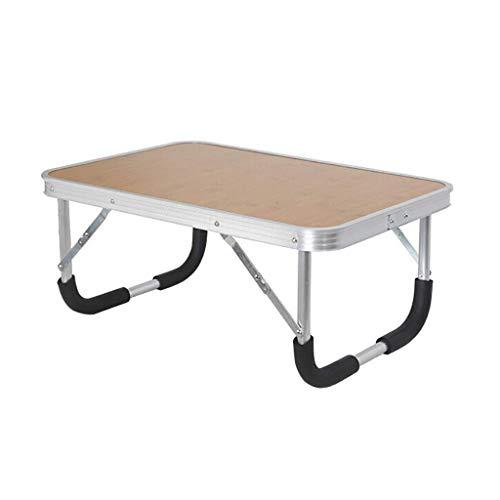 BJYG Mini-Schreibtisch, medizinischer Tisch, tragbarer Faltbarer Lazy-Tisch, Laptop-Ständer, Laptop-Bettablagetisch, 2 Farben, 60 * 40 * 26 cm (Farbe: Bambusholz)