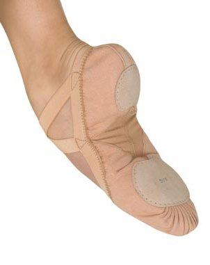 BLOCH Damen Pro Elastic Ballettschläppchen mit geteilter Ledersohle Haut (Lachs) 37.5C