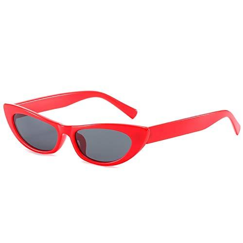 FIRM-CASE Frauen Sexy Katzenaugen-Sonnenbrille Kleines Rechteck Vintage-Sonnenbrillen Retro Cateye Brillen Schwarz Sunglass, 6