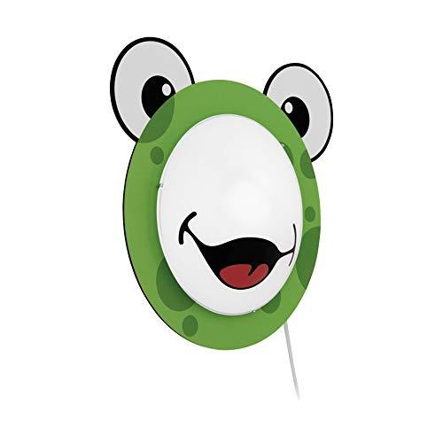 Kinderlampe Wand leuchte Kinder Zimmer Motiv Kinderleuchte Frosch Muster Tier Punkte grün EGLO94457