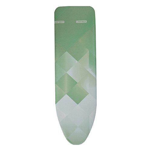 Leifheit Bügeltischbezug Heat Reflect S / M , Bügelbrettbezug, max. 125 x 40 cm, Green Diamonds
