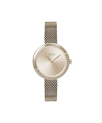 Hugo BOSS Damen Analog Quarz Uhr mit Edelstahl Armband 1502498 - Damen Movado Uhren