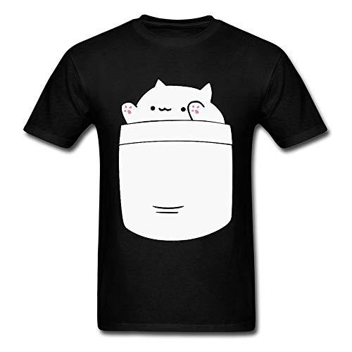 Cute Bongo Cat Pocket Funny T Shirt Lovers Day Kawaii Casual Short Sleeve 100% Cotton O-Neck Student Tshirts 3D Cat T-Shirts