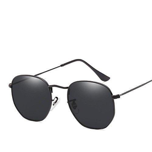 BiuTeFang Multilateralen unregelmäßige Sonnenbrille Retro-Street-Shooting Sonnenbrille Flut Mans Männer und Frauen allgemein helle Farbe Sonnenbrillen