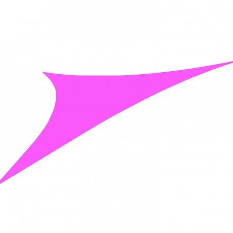 Easywind - Voile d'ombrage 360x360x360cm - Levant - Forme Triangulaire, Coloris Violet, Tissu Extensible