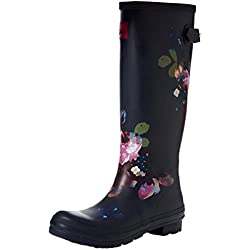 Joules Wellyprint, Botas de Agua para Mujer, Blue (Navy Floral Navflor), 39 EU