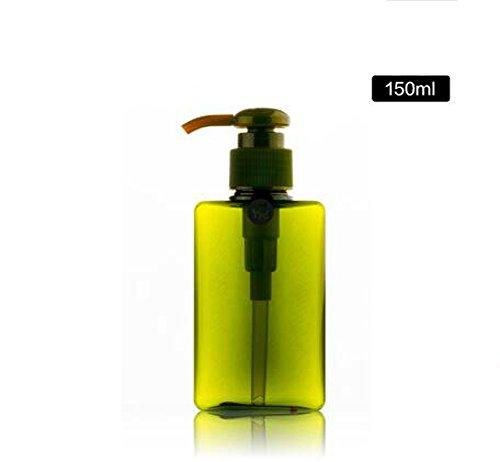 150ml/250ml ricaricabile Vuoto bottiglie di plastica pompa bottiglia dispenser di sapone bottiglia Set di barattoli (Dispenser Di Sapone Fine)