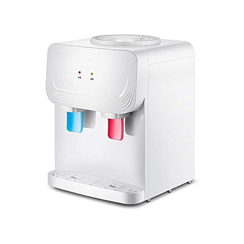 AYJH Home Desktop Mini Kalt Warm & Heißwasserspender Pushing Switch Komfortable Wasserversorgung Energiesparende Warmwasserbereitungsmaschine, Weiß -