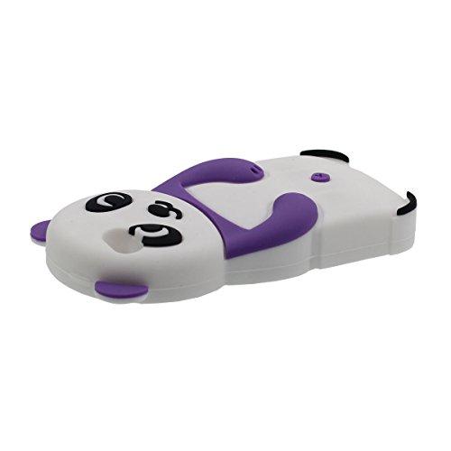 iPhone 5S 5 Hülle Silikon Gel Case für Apple iPhone SE 5C 5G, Karikatur Tier Schön Panda Aussehen Weich Schutzhülle Stoßdämpfung - Lila Lila