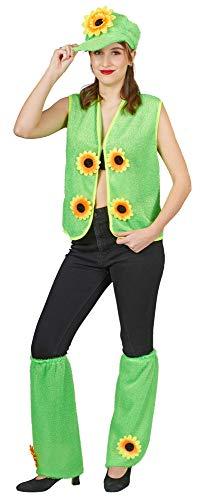(Das Kostümland Gras Set Gärtner Kostüm Sonnenblumenwiese 4-TLG. - Gruppenkostüm Karneval Mottoparty Festival Verkleidung Vereine)