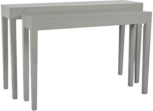 elbmöbel Lot de 2 Tables d'appoint en Bois laqué Brillant 80 x 130 x 34 cm et 75 x 112 x 27 cm