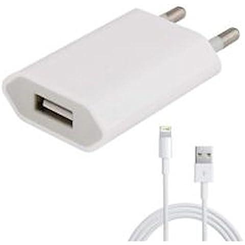 Apple Adaptador de corriente A1400 y cargador para iPhone 5 y posteriores, iPod Touch 5º generación, iPod Touch 7º gener