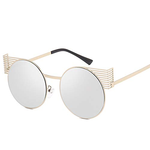 Cdrox Frauen Männer Persönlichkeit Runde Sonnenbrille Metallrahmen Mädchen Jungen Brillen Brillen UV400 Schutz