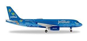 Herpa 533096 JetBlue Airbus A320 - Miniatura de avión para coleccionar
