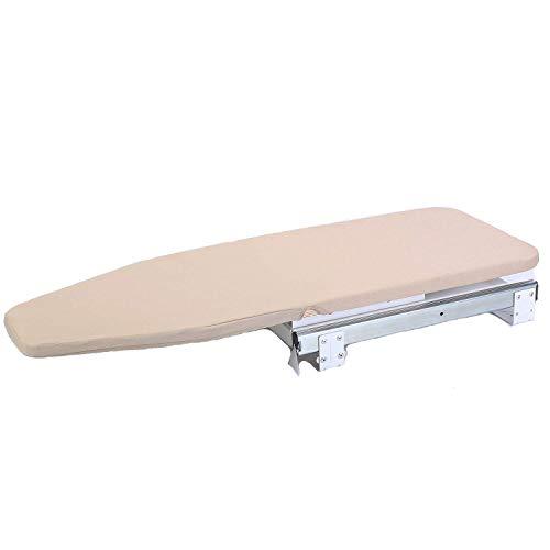 Tcatec - asse da stiro girevole da incorporare a un armadietto in legno, 82 x 31 cm, con imbottitura inclusa. il design pieghevole consente di risparmiare spazio