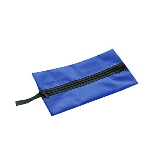 Bolsas de almacenamiento portátil a prueba de agua del maquillaje cosmético de la bolsa de asas del bolso al aire libre del viaje de lavandería bolsa de zapatos azul