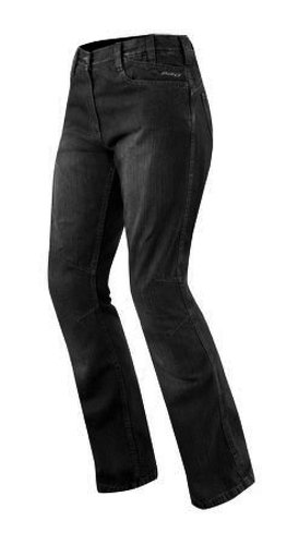 *A-pro Jeans Damen Denim CE Knie Protektoren Motorrad Biker Pants Hose Schwarz 28*