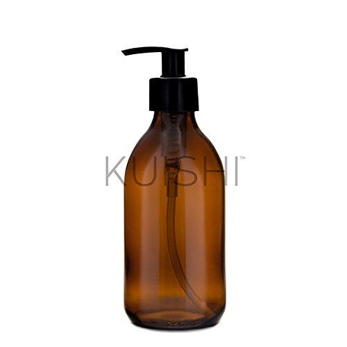 Botella de vidrio dispensadora de jabón Kuishi, vidrio, Amber, 250 ml
