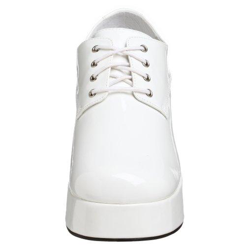 PleaserJazz02/b - Brogue uomo Bianco (Bianco (White))