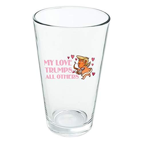 My Love Trumps All other President Cupidon avec cœurs pour la Saint-Valentin Romance 454 ml