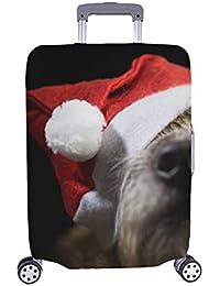 e838b983c Funny Shaggy Dog Christmas Cap en Stock Foto Patron Spandex Trolley Case  Viaje Equipaje Maleta de