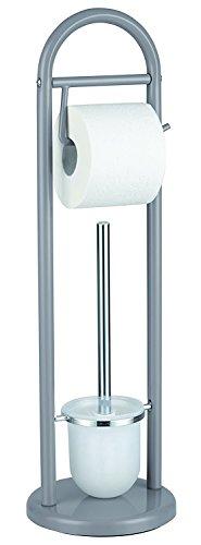 SANWOOD WC-Kombi-Bürstengarnitur in vielen Farben, Farbe: grau