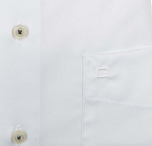 OLYMP Modern Fit Hemd Langarm mit schwarzem Patch weiß 02