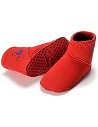 Konfidence remeros trajes de baño de la par de calcetines para ciclismo - rojo - 1-2 años de