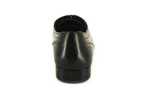 Neuf Pour Hommes/pour Base Noire Cuir Souple Bout Plein Chaussures À Lacets Habillées - Noir - TAILLES UK 7-12 Black